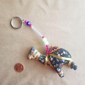 Boho Camel & Evil Eye Keychain
